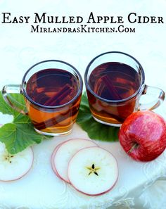 This Mulled Apple Cider is easy to put together in a crock-pot and makes the entire house smell nice while it simmers.  Every fall gathering is better with a little cider!