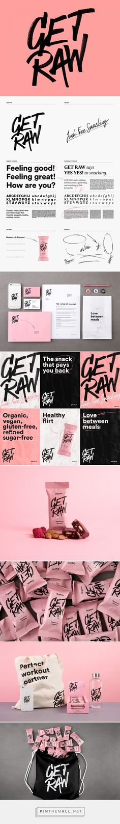 Established in 2013, Get Raw is a brand of health bars in Sweden that are organic, vegan, gluten-free, and without refined sugar. Late last year, the company introduced a new logo and packaging designed by Stockholm, Sweden-based Snask.