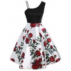 SHARE & Get it FREE | Skew Neck Floral Print A Line DressFor Fashion Lovers only:80,000+ Items·FREE SHIPPING Join Dresslily: Get YOUR $50 NOW! Cute Prom Dresses, Pretty Dresses, Short Dresses, Summer Dresses, A Line Dresses, Maxi Dresses, Girls Fashion Clothes, Teen Fashion Outfits, Fashion Dresses