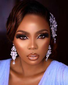 Black Girl Makeup, Girls Makeup, Eyebrow Makeup Tips, Beauty Makeup, Bridal Makeup, Wedding Makeup, Wedding Bride, Cute Makeup, Makeup Looks