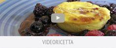 Tortino di ricotta con miele millefiori biologico Alce Nero e frutti di bosco
