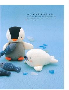 DIY Felt Penguin and Seal - FREE Pattern
