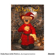 Dinky Bears Little Trick or Treat Wizard Card