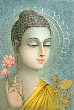 Budha Painting, Buddha Artwork, Zen Meditation, Indian Art Paintings, Krishna Art, Buddhist Art, Oeuvre D'art, Art Drawings, Abstract Art