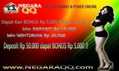 """www.negaraqq.com Domino - Poker - Capsa - Adu Q online tanpa admin atau robot di dalamnya Domino dengan uang asli yang bisa mengubah Finansial Anda Dengan BONUS menarik - BONUS DEPOSIT Rp 5.000 Setiap Harinya (Min Deposit Rp 50.000) - BONUS CASHBACK Turnover 0.3 % Setiap minggunya (Turnover diatas 1jt) - BONUS CASHBACK Turnover 0.5 % Setiap minggunya (Turnover diatas 100jt) - BONUS REFERRAL 15 %  - BONUS MINGGUAN LIMIT TURN OVER DI BAGI HARI """"SELASA"""" (Hubungi CS)  - Deposit 15.000 - Withdraw…"""