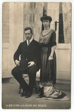 k royalty royal family people postcard king of belgium