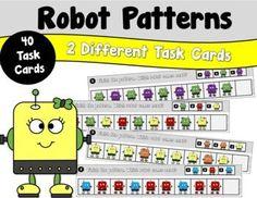 Robot Patterns by Teacher's Take-Out   Teachers Pay Teachers