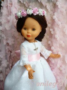 ANILEGRA COSE PARA NANCY: Vestido de comunion , o de princesa ???? para Nancy