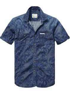 Denim short-sleeved shirt in different washed dessins | Shirt s/s | Men Clothing at Scotch & Soda