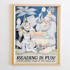 MauRiCe SeNDaK FRaMeD PRiNT . Reading Is Fun . The Year by joonE, $25.00