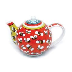 4 Cup Porcelain Teapot - 'Bumble Bee' cute teapot!