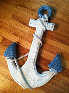 "18""  Custom Wooden Anchor, Nautical Decor,Beach Anchor, Coastal Decor on Etsy, $57.00"