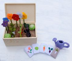 Felt Fabric #VegetableGarden Play Set #Toy #MiniGarden by Florfanka #BusyBox