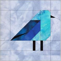 Mountain Bluebird 10 Inch Paper Piece Foundation Quilting Block Pattern PDF by HumburgCreations on Etsy Barn Quilt Patterns, Patchwork Quilt Patterns, Beginner Quilt Patterns, Paper Piecing Patterns, Quilting For Beginners, Bird Patterns, Pattern Blocks, Beginner Quilting, Quilting Patterns