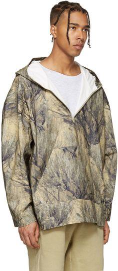 YEEZY - Khaki Camo Pullover Jacket