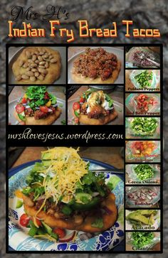 Just easy, honest, good Native Navajo Tacos, piled high with authentic toppings. Recipes With Yeast, Top Recipes, Mexican Food Recipes, Native American Fry Bread, American Food, Native American Recipes, American Indians, Fry Bread Tacos, Fried Bread Recipe