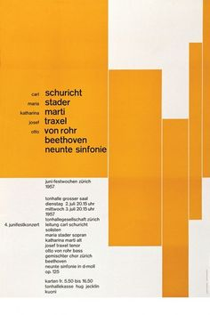 Josef Müller-Brockmann, graphic design, poster