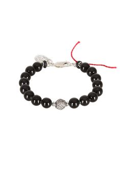 Aaron Jah Stone Bracelets :: Aaron Jah Stone black tourmalines, silver and grey diamonds Root Chakra bracelet | Montaigne Market