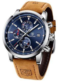 New quartz men's watches Multifunction sport Wristwatch – GaGodeal Bracelet Silicone, Bracelets Bleus, Bracelet Cuir, Blue China, Fashion Watches, Men's Watches, Wrist Watches, Luxury Watches For Men, Digital Watch