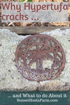 Allgemeine Gründe, die Hypertufa knackt - Garden Tips For Beginners Diy Garden Projects, Garden Crafts, Outdoor Projects, Diy Craft Projects, Garden Art, Garden Design, Tower Garden, Diy Crafts, Garden Paths