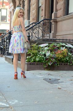multi-color-halter-dress http://styledamerican.com/colorful-halter-dress/