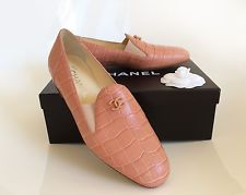 AUTHENTIC AND BRAND NEW CHANEL PINK ALLIGATOR LOAFERS ESPADRILLES SHOES 38 FR  Always 100% Authentic Chanel Espadrilles, Chanel Pink, Loafers, Brand New, Stuff To Buy, Ebay, Shoes, Fashion, Travel Shoes