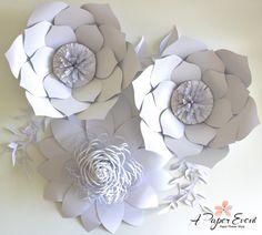 Telón de fondo de flores, centro de mesa boda, bebé ducha telón de fondo, Telón de fondo de boda, flores de papel de papel