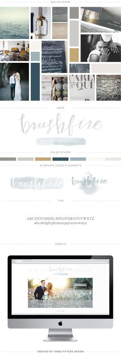 Brushfire Photography branding || 315 Design