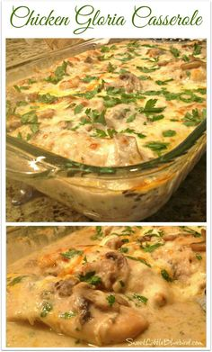 "CHICKEN GLORIA CASSEROLE - Tried and True Recipe that is absolutely delicious! 5 stars! ""This is awesome!!!!! So delicious. I made it exactly according to the recipe and it was fabulous. Definitely a keeper."" 