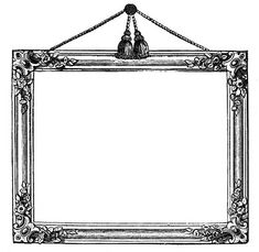Free Printable Victorian PIcture Frames - (think Instant Art!!)  via The Graphics Fairy