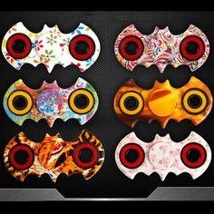 Random Color Batman Style Fidget Spinnner Hand Spinner Desk Focus Fidget Toys Stuffer
