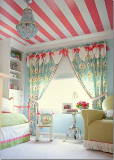 One day I will have a girl :) Striped ceiling, pink, girls room