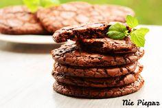 Czekoladowe, chrupiące ciasteczka brownie Cookies, Chocolate, Food, Mascarpone, Crack Crackers, Biscuits, Essen, Chocolates, Meals