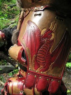 Dragon on leather armour