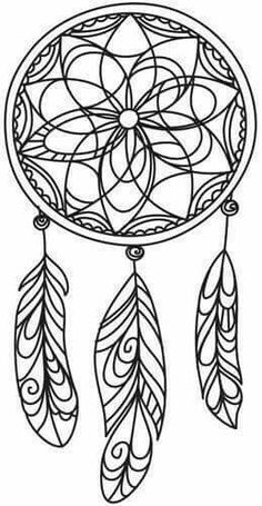 ☮ American Hippie Art ☮ Adult coloring page tattoo idea . Dreamcatcher: ☮ American Hippie Art ☮ Adult coloring page Doodle Drawing, Mandalas Drawing, Zentangles, Free Printable Coloring Pages, Coloring Book Pages, Simple Coloring Pages, Coloring Sheets, 3d Zeichenstift, Dream Catcher Coloring Pages