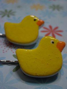 Rubber Ducky Hairpins