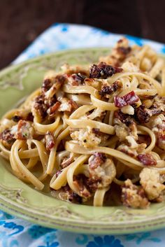 Roasted Cauliflower Carbonara by foodiebride...with a little bit of bacon