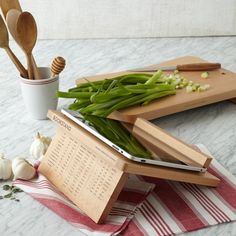 for the home gourmet: Wooden Cookbook Stand #giftguide