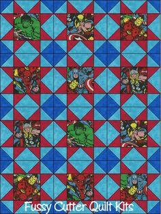 Amérique Hulk Spiderman Wolverine Thor capitaine Iron Man Super Hero enfants Baby Boy Child Tissu rapide Facile Pre-Cut Quilt Blocks Top Kit Quilting Squares Matériel
