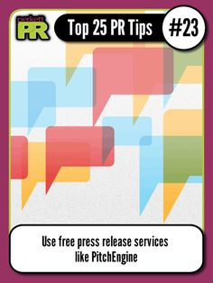 Use free press release services like PitchEngine