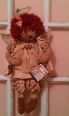 Primitive Raggedy Ann, Annie is an Angel, PDF $11.00