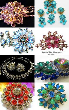 All Designer Signed Retro Collectible & Art Deco Vintage Jewelry .....ECOCHIC TEAM--Pinned with TreasuryPin.com
