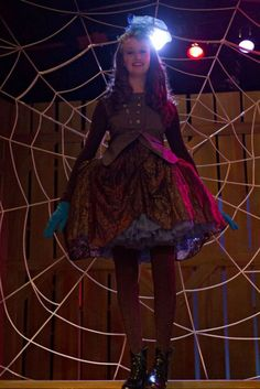 Charlotte's costume - Charlotte's Web at Theatre Arlington. Costume by Meredith Hinton.