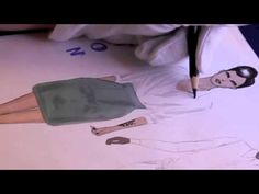 Lesson no. 4, P.1 - COTTON GARMENTS, Fashion Drawing - YouTube