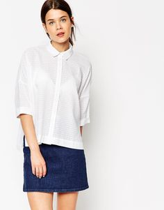 Bild 1 von ASOS – Oversize-Hemd in Seersucker-Qualität