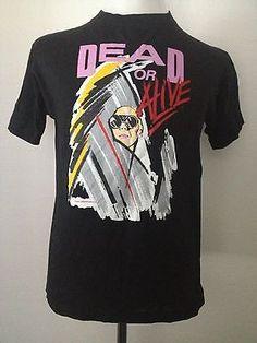 RARE and Unique DEAD OR ALIVE/Pete Burns VINTAGE T-Shirt 80's Retro AMAZING!!