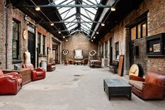 Industrial style interior designs are common for lofts and old warehouses turned into unique living spaces; they are raw and rough surfaces, an unfinished look. Description from examiner.com. I searched for this on bing.com/images