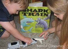 """""""My kids quickly searched their toy box for a shark figure and a train right after reading the book and played out their own shark vs. train scenarios."""""""