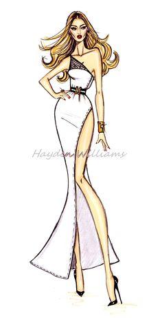 Hayden Williams for Modelinia: Color Me Model: Hayden Williams Animates Our Favorite Girls! Rosie Huntington-Whitely