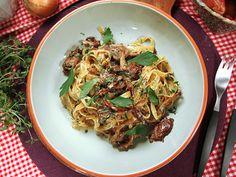 Lyxig pasta med oxfilé och svamp (kock Jennie Walldén)